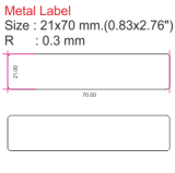 0.83x2.76 Metal Labels