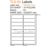 100x36 mm.Label