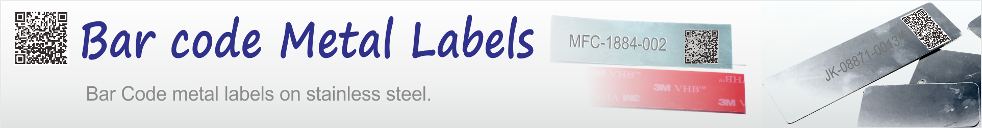 Barcode metal labels